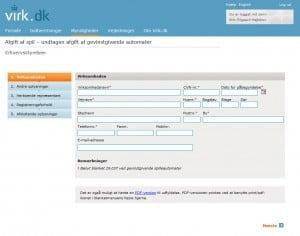 Registrering hos virk.dk