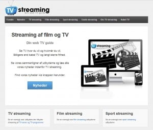 Nyt website om TV streaming